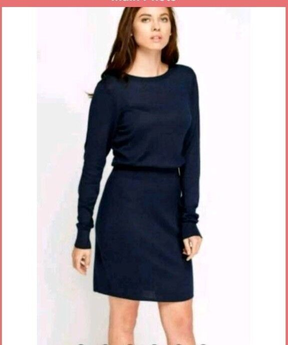 New (without tags) navy knitted dress, size extra small