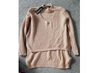 Boo hoo nude choker jumper s/m new with tags