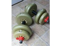 Pair of 7kg York Dumbell Weights