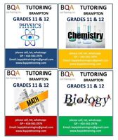 TUTORING GRADES 10 11 12 MATH PHYSICS CHEMISTRY BIOLOGY