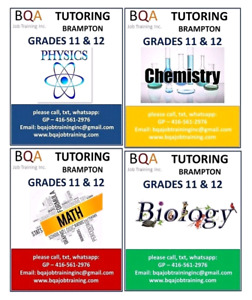 GRADES 5 TO 12 TUTORING ALL SUBJECTS IN BRAMPTON