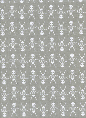 Halloween Skeleton Dance (Cotton+Steel Halloween Boo Skeleton Dance sold by the FULL Yard Quilting)