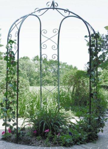 Arbor Garden 3 Sided Metal Arch Backyard ...