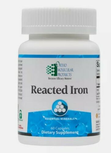 Ortho Molecular  Reacted Iron 60 Capsules FAST SHIPPING SEALED exp. 11/21