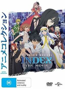 A Certain Magical Index: The Movie: The Miracle of Endymion NEW R4 DVD