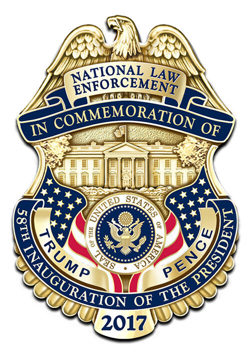 "Donald Trump Police MINI Badge PresidentiaI  Inaugural  Protection Detail 1""Pin"