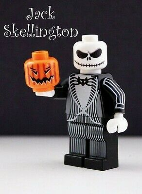 Custom Lego Nightmare Before Christmas Jack Skellington Minifigure