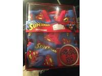 SUPERMAN BATHROBE AGE 4/5 BNIB