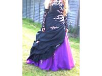 Lovely Black and Purple Prom Dress