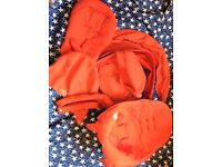 stokke xplory / crusi red textiles with shopping bag