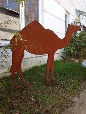 garten skulptur kamel rost optik,dekoration tier metall figuren, Garten und bauen