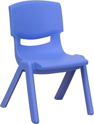 Blue Preschool Chair (Blue Plastic Stackable Preschool Activity Chair with 13.25