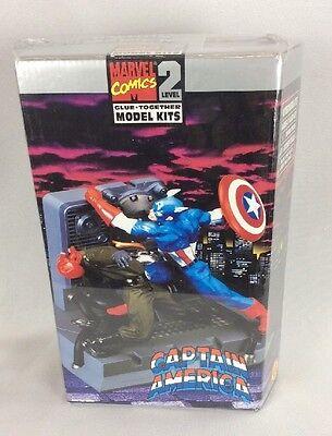 Captain America Marvel Comics Level 2 Glue Together Model Kit Toy Biz Sealed New