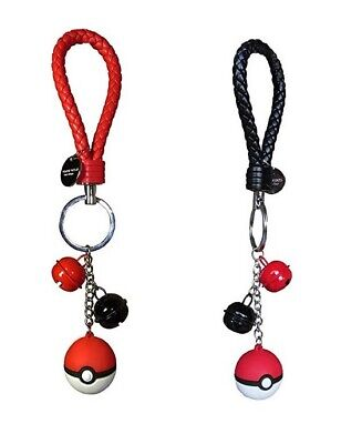 Keychain for Pokemon GO Pokeball Key Chain Keyring