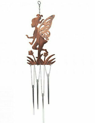 GARDEN WINDCHIME FAIRY BRONZE CHIMES METAL INDOORS ORNAMENT WIND CHIME