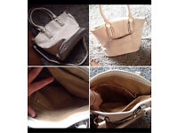 Ladies white leather bag