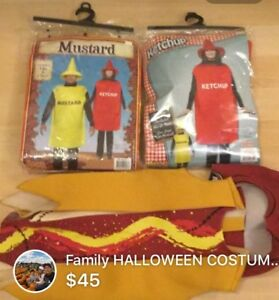 Ketchup and Mustard with Hotdog HALLOWEEN COSTUME