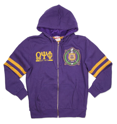 Omega Psi Phi Fraternity Zip-Up Hoodie-Size 2XL-New!