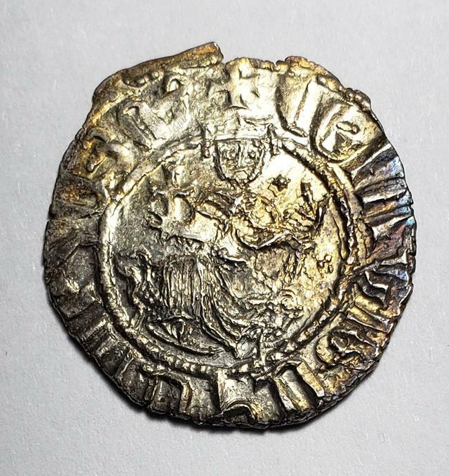 Armenia (Cilici) 1198-1219 Levon I Cross-Lions Silver Tram About Unc (A707)