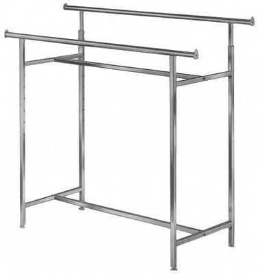 Adjustable Double Bar Garment Rack