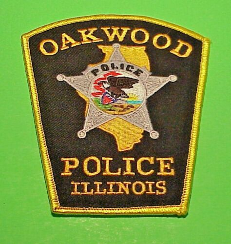 """OAKWOOD  ILLINOIS  IL  4 7/8""""  POLICE PATCH  FREE SHIPPING!!!"""