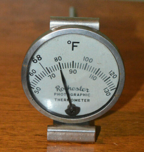 VINTAGE ROCHESTER PHOTOGRAPHIC THERMOMETER