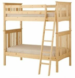 Twin over Twin Bunk Bed with ladder - Pine