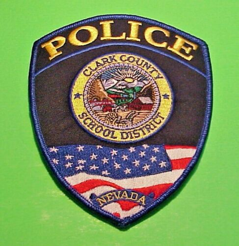 """CLARK COUNTY SCHOOL DISTRICT  NEVADA  NV  5 1/2"""" POLICE PATCH   FREE SHIPPING!!!"""