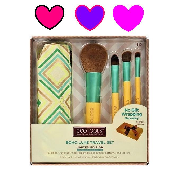 ECOTOOLS 1313 Makeup Brush Boho Luxe Travel Set