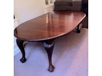 Victorian mahogany extending dining table - Excellent condition