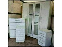 🌞🔥STYLISH NEW WARDROBE, CHEST OF DRAWERS, BED SIDE TABLES ALL NEW READY ASSEMBLED