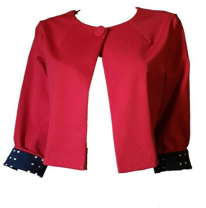 giacca blazer donna bolero coprispalle corto chiffon semi trasparente nuovo 6808
