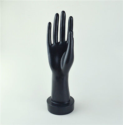 Mannequin Hand Arm Display Base Female Gloves Jewelry Model Stand Short Black