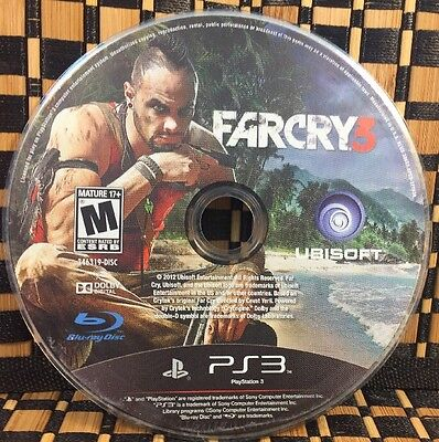Far Cry 3  Sony Playstation 3  2012  Used  Disc Only   10447