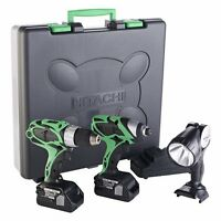 Hitachi 3-tool Li-ion ckit with batts, charger, new