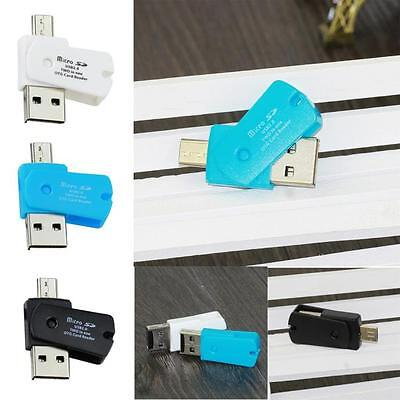 OTG Micro USB to USB 2.0 Micro SD TF Card Reader Adapter For Android Phone