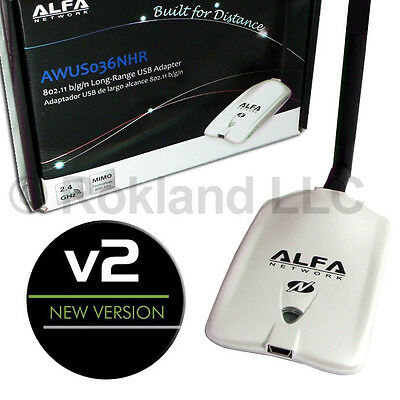 Alfa AWUS036NHR v2 Wireless-N USB Wi-Fi wireless adapter RTL8188RU (No Mount)