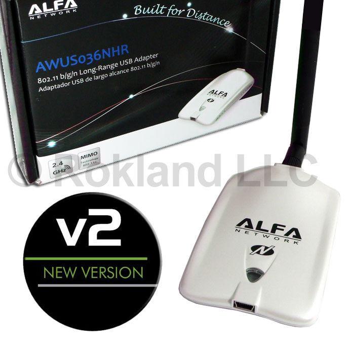 Alfa AWUS036NHR v2 version 2 Wireless-N USB WiFi adapter Realtek RTL8188RU