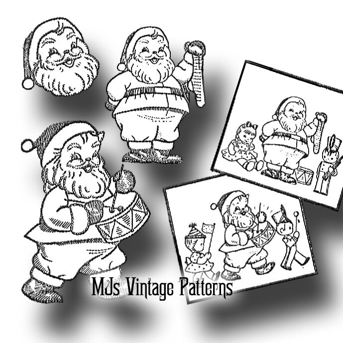 Santa Claus Embroidery ~ Vintage Christmas Pattern