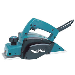 "Makita 3 1/4"" power planer kit WITH steel case"