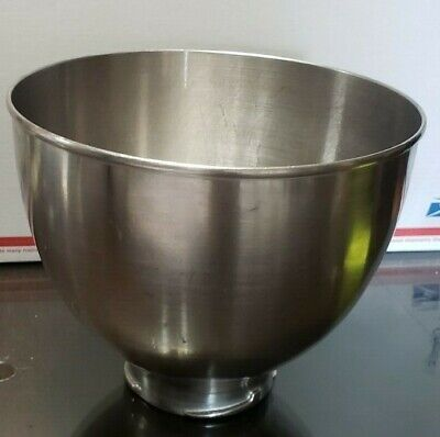 Kitchenaid Mixer PART Hobart K45SS Stainless Bowl Made In USA CLEAN DISINFECTED