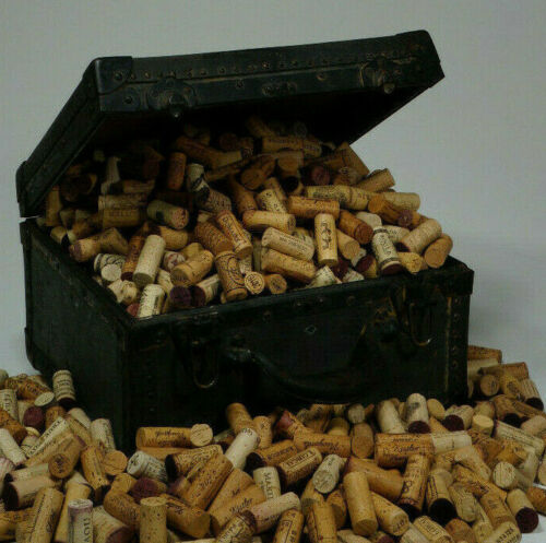 1000 + all NATURAL wine CORKS -variety of AUTHENTIC labels from an EXOTIC resort