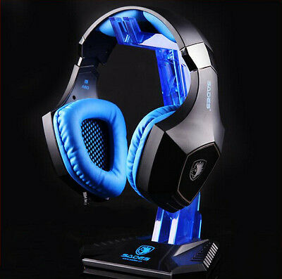 SADES Headphone Stand Headphone Hanger PC Gaming Headphone Display Holder Stand