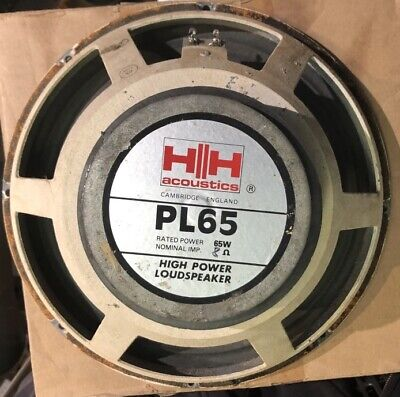 """H-H PL65 12"""" 8 Ohm Speaker Vintage, used for sale  Shipping to Nigeria"""