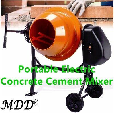 Portable Electric Concrete Cement Mixer 2 15 Cubic Ft Stucco Mortar 63l New Us