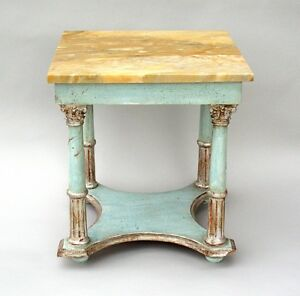Beautiful Italian marble top small side table