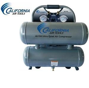 NEW CAL AIR TOOLS AIR COMPRESSOR California Air Tools Oil-Free 1.0 HP 4.6-Gallon Aluminum Twin Tank 104923102
