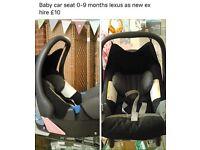 Car seat £10
