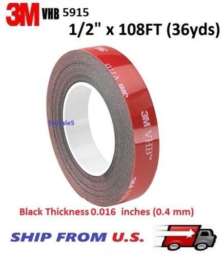 """3M 5915 VHB Double-Sided Foam Tape - 1/2"""" x 108FT (36yds)"""