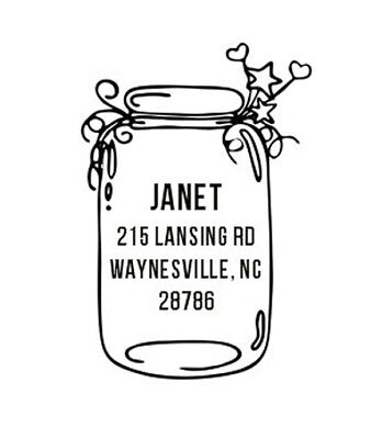 Custom Designer Jar Designed Round Return Address Self Ink Stamp Ideal 400r